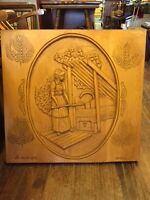 'LA BOULANGERE' HAND CARVED WOOD PICTURE Ottawa Ottawa / Gatineau Area Preview