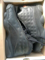 JORDAN 13S ALL BLACK OBO