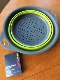 NEW Collapsible Colander 2.8 litre Silicone dishwasher safe