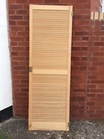 Victorian panel door 32 x 78 inches. louvre door 24 x 72 inches