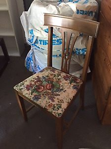 Needle Point Wooden Chair