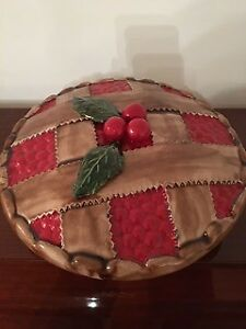 Sweet as cherry pie holder and lid