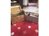Brass log box with original insert
