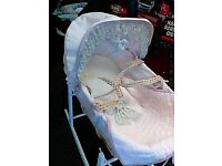 Brand New Mama and Papas moses basket and frame