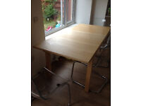 Ikea Birch Extendable Dining Table
