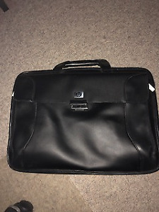 Black multi section Briefcase with padded laptop compartment