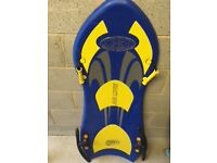 Sledge Air Luge Snow Boogie Two Person Fast Excellent Condition Blue/Yellow Collection Only