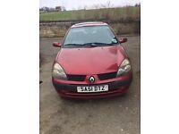 Renault Clio 1.1L, 5D Hatchback, Red, 88341 Miles, MOT 2/3/17 FOR SALE