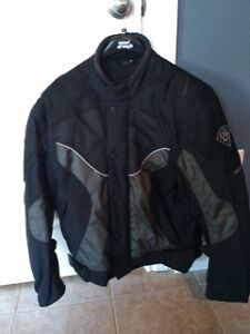 Rhino Mens Motorcycle Jacket with armour - Size Large