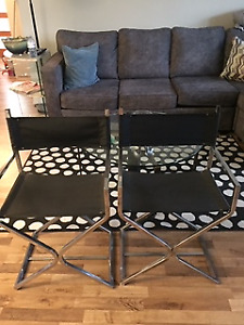Two Modern Director's Chairs Exc. Condition