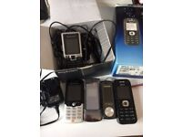 Old Mobile Phone Bundle, accessories and chargers - Good for Parts