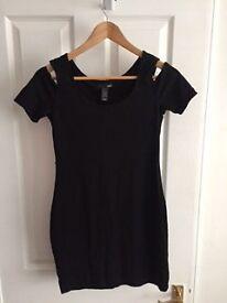 H&M black dress uk size 10