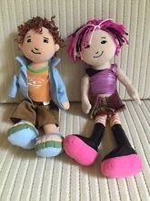 TWO MODERN BRIGHT CLOTH DOLLS ONE MALE ONE FEMALE Maleny Caloundra Area Preview