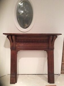 Antique Wooden Fireplace Surround - $395