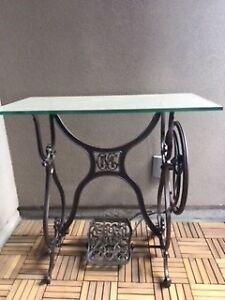 Vintage sewing machine side table