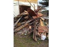 pile of wood for wood burning stove or open fire