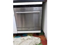 Siemens 8-Place Semi-Integrated Dishwasher - Stainless Steel