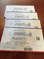 4 Taylor Swift tickets - Bell Center July 7th