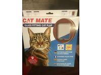 Cat Mate 4 Way Locking Glass Fitting Cat Flap (210B)