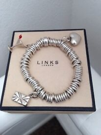 Links of London Bracelet with 3 charms