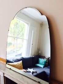 Lovely vintage Fireplace Mirror, solid wood