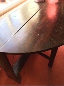 Gate-Leg Oak 6 seater Dining Table £25