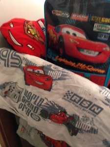 Cars various items bedding, luggage slippers, car pillow