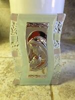 Bonbonnieres 105 Murano Madonna and child art deco s-shape icon