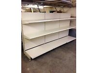 shop shelving, gondola bays, good condition cheapest shop shelfs, very strong heavy duty shelves