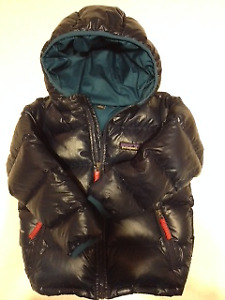 Child's down filled high loft winter coat,  Patagonia, size 4T