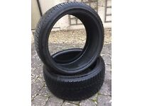 2 Dunlop Winter Sport tyres for 19 inch wheels. Part worn, no repairs or damage.