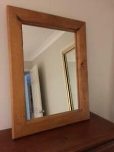 Large wooden mirror Werrington Downs Penrith Area Preview