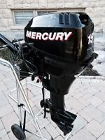 15 HP Mercury Outboard Electric Start Low Hours