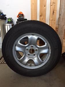 Winter Tires on Rims - 215/70R16