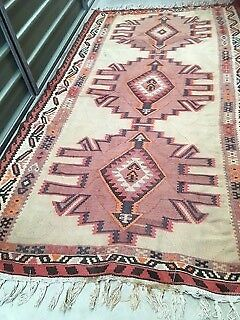 Persian Rug/Kilim-Caucasian style, pure wool, hand woven, in vgc