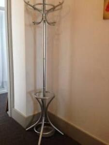 Silver Sprayed Wooden Hat Stand Mosman Mosman Area Preview