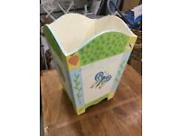 cute painted kids WASTE PAPER BIN. only £8