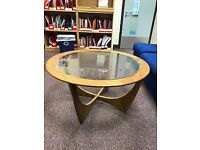 G PLAN Glass Top Coffee Table.