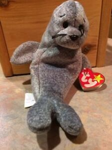 Ty Beanie Baby - Slippery the Seal