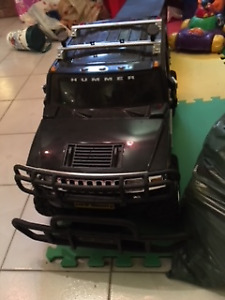 Truck (Hummer ) with Trailer and Motorcycle with Remote Cont