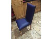 4 x dinning chairs x 4 royal blue