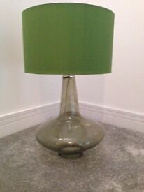 GREEN BLOWN GLASS TABLE LAMP