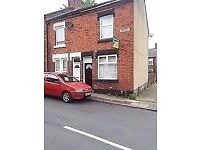 **LET BY ** 2 BEDROOM END TERRACE-ELM STREET-COBRIDGE-LOW RENT-DSS ACCEPTED-NO DEPOSIT-PETS WELCOME