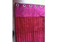 Red stripe curtains Designer Guild