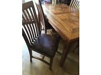 M&S Malabar six seater table and four chairs.