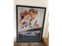 "POSTER IN BLACK FRAME FOR FILM ""TITANIC"""