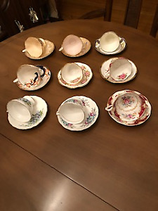 Cup and Saucers - Bone China