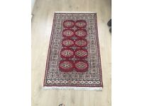 Brand new redish meroon colour Afghani Rug for Sale 53inches x 31inches
