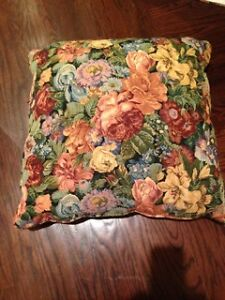 Flower Floral Print Ottoman Pillow Set Room Rest Foot Stool Seat