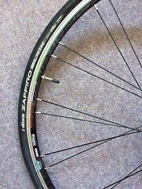 Front Wheel (Bianchi, Reparto corse) with tyre (zaffiro slick vittoria 700x25C) and Innertube